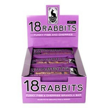 18 Rabbits Funky Figs & Cherry Bar; Organic 1.9 oz. (Pack of 12)