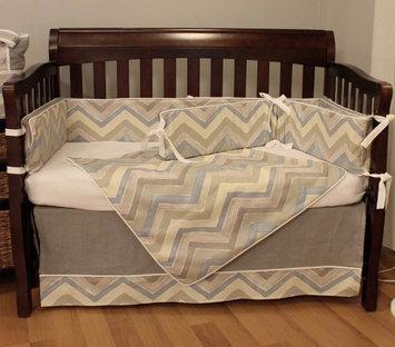 Hoohobbers Chevron 4-piece Crib Bedding Set