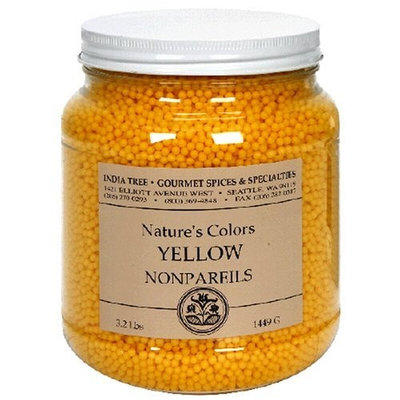 India Tree Nature's Colors Yellow Party Decoratifs, 51.2-Ounce Unit