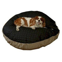 Snoozer Quiltie Round Pet Bed, Small, Black