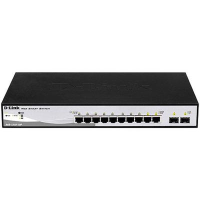 Web Smart 8-Port Gigabit PoE Switch, 2 1000BASE-T/SFP Combo Ports, D-Link Green