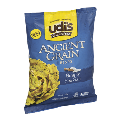 Udi's Ancient Grain Crisps Simply Sea Salt