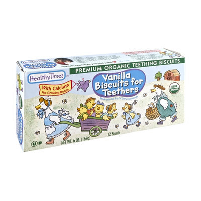 Healthy Times Organic Vanilla Biscuits for Teethers - 12 CT