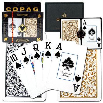 Trademark Global Games Trademark Poker Copag Bridge Size 1546 Design Jumbo Index - Black & Gold