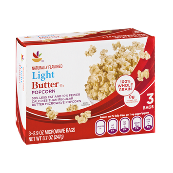 Ahold Light Butter Flavored Popcorn - 3 CT