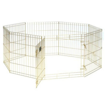 Midwest Gold 8 Panel Exercise Pen With Door - 24H x 42H