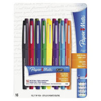 Paper Mate Point Guard Flair Porous Point Stick Pen, Medium- Assorted