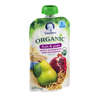 Gerber 2nd Foods Organic Baby Food Fruit & Grain Pear & Pomegranate With Mixed Grains