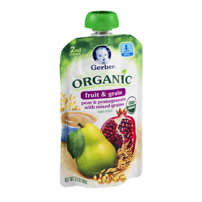 Gerber® 2nd Foods Organic Baby Food Fruit & Grain Pear & Pomegranate With Mixed Grains