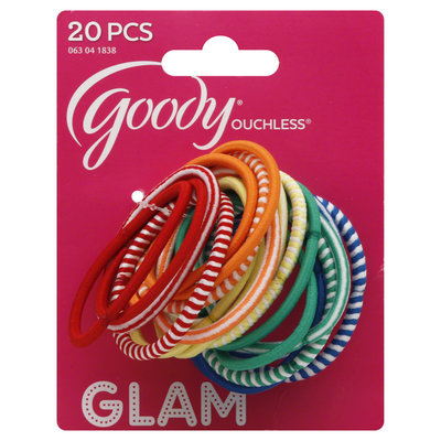 Goody Products Inc. Ouchless Girls Primary Elastics, 20 pcs