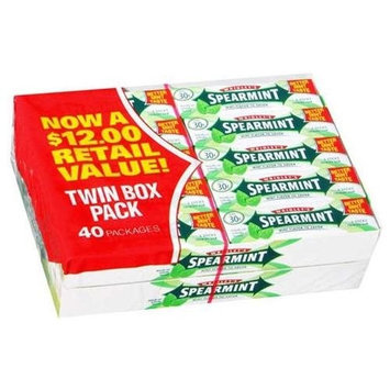 Wrigley's Spearmint - 2/20 ct. Packages