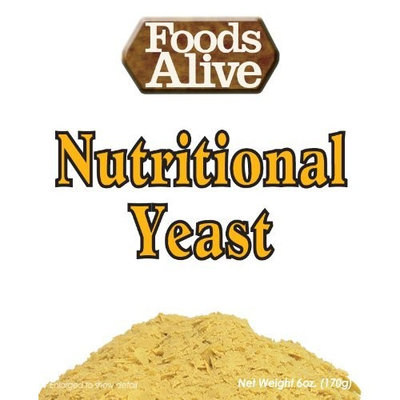 Foods Alive Nutritional Yeast Flakes, Vegetarian Support Formula, 6-Ounce (Pack of 2)