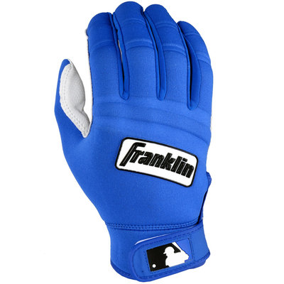 Franklin Sports MLB Adult Cold Weather Batting Glove Pearl/Royal Small