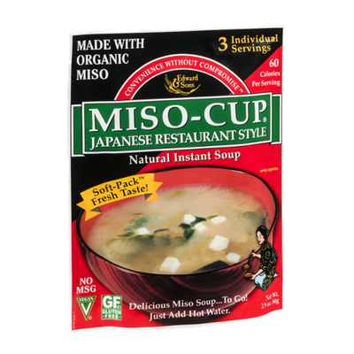 Edward & Sons Miso-Cup Japanese Restaurant Style Natural Instant Soup - 3 CT