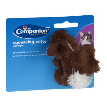 Companion Cat Toy Squeaking Critter