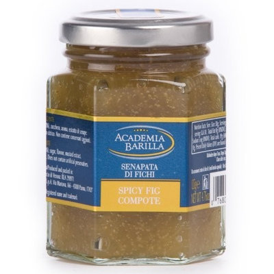 Academia Barilla Spicy Fig Compote Glass Jar, 4.75-Ounce