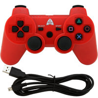 Cpd Accessories Inc. AP3CON4R PS3 Bluetooth Controller with rechargeable battery, Red