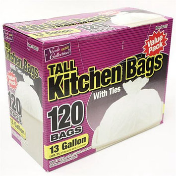 Nicole Home Collection 02027 13 Gallon Tall Kitchen Bags with Ties - 480 Per Case