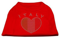 Mirage Pet Products 5241 SMRD Italy Rhinestone Shirts Red S 10