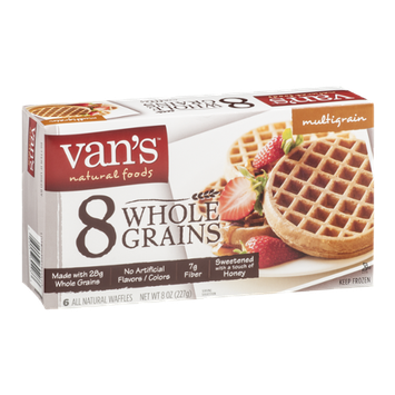 Van's Natural Foods Multigrain Waffles 8 Whole Grains - 6 CT