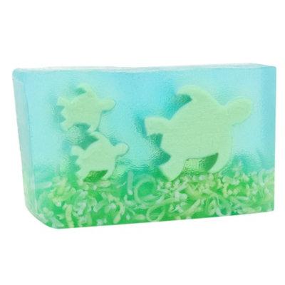 Primal Elements Handmade Vegetable Glycerine Soap, Coconut lime, Sea Tutles, 6 oz