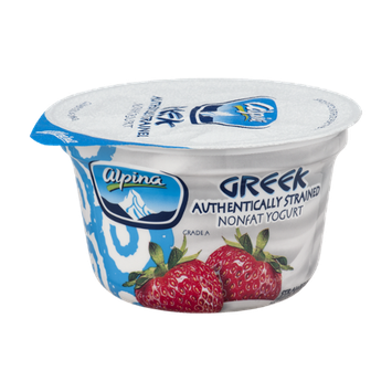 Alpina Greek Authentically Strained Nonfat Yogurt Strawberry