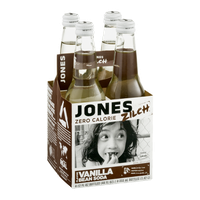 Jones Zilch Zero Calorie Soda Vanilla Bean Flavor - 4 CT