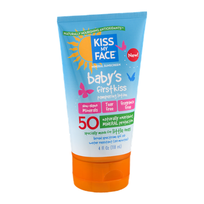 Kiss My Face Mineral Sunscreen Baby's First Kiss Pampering Lotion
