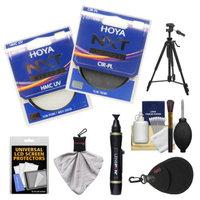 Hoya 58mm NXT (HMC UV + Circular Polarizer) Multi-Coated Glass Filters with Tripod + Accessory Kit