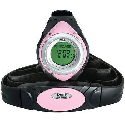 Pyle PHRM38PN Heart Rate Monitor Sports Watch - Pink