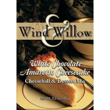 Wind and Willow White Chocolate Amaretto Cheesecake Cheeseball & Dessert Mix - 3.2 Ounce (4 Pack)