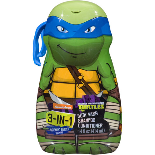Nelsonic Ind/Berger Teenage Mutant Ninja Turtles 3-in-1 Body Wash, Shampoo and