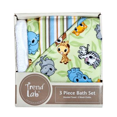 Trend Lab Chibi Zoo 3 Pack Bath Bundle Box Set