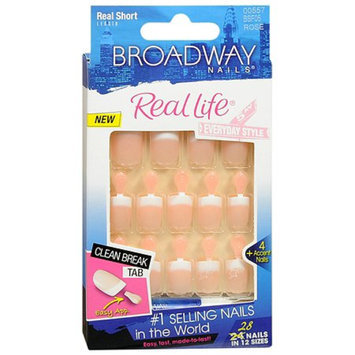 Broadway Nails Real Life Glue-On Nail Kit Real Short Length