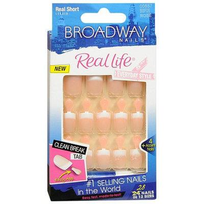 Broadway Nails Real Life Glue-On Nail Kit Real Short Length