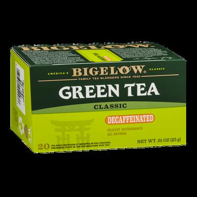 Bigelow Green Tea Decaffeinated Classic - 20 CT