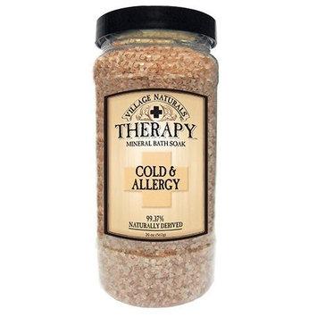 Village Naturals Therapy Cold & Allergy Mineral Bath Soak 20 oz