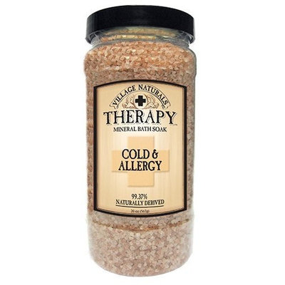 Village Naturals Therapy Cold & Allergy Mineral Bath Soak 20 oz