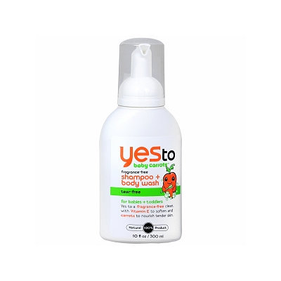 Yes to Baby Carrots Fragrance Free Shampoo + Body Wash
