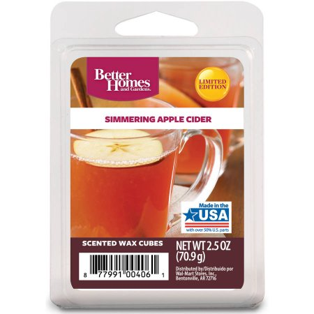 Better Home & Gardens Better Homes and Gardens Warm Apple Cider Scented Wax Cubes