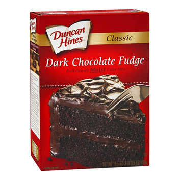 Duncan Hines Decadent Classic Cake Mix Dark Chocolate Fudge