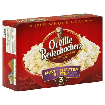 Orville Redenbacher's Popping Corn, Gourmet, Movie Theater Butter, 3 - 3.3 oz (93.3 g) bags [9.9 oz (280 g)]