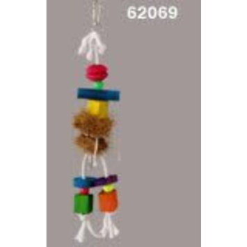 Prevue Pet Products BPV62069 Tropical Teasers Bird Toy, Small/Medium, Hula Doll