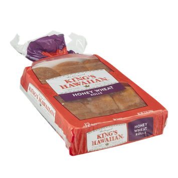 King's Hawaiian Honey Wheat Rolls - 12 CT