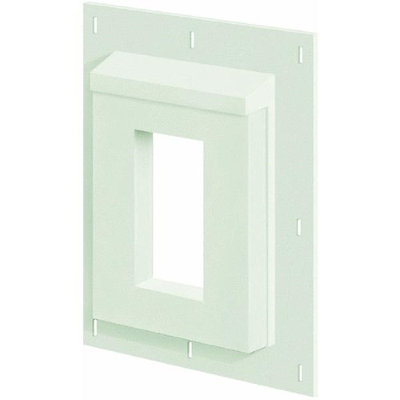 SturdiMount 9.08-in x 11.5-in Trim White Fiber Cement Mounting Block 3SMR68TW