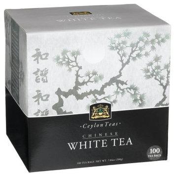 Ceylon Teas Mementa Tea, Organic Chinese White Tea, 100-Count Tea Bags (Pack of 2)