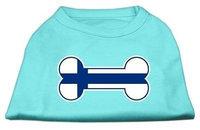 Mirage Pet Products 5114 MDAQ Bone Shaped Finland Flag Screen Print Shirts Aqua M 12