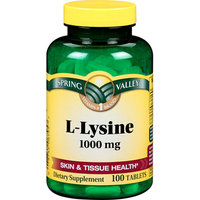 Spring Valley Natural 1000mg L-Lysine Tablets