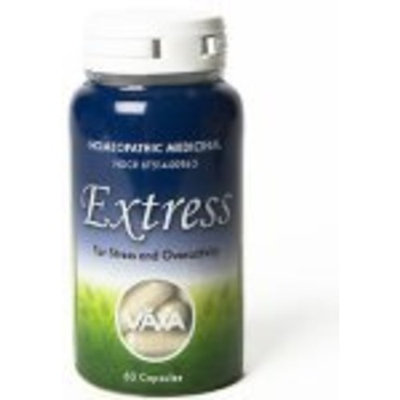 Vaxa International VAXA Homeopathic Medicinal Extress, for Stress and Overactivity, Capsules , 60 capsules