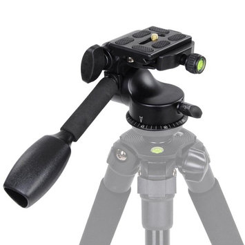 Yescomusa Oem 360 Swivel Ball Head w/ Quick Release Plate Single Handle F Tripod DSLR Camera